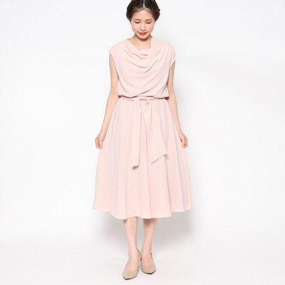 【アウトレット】ジュネビビアン Genet Vivien ミモレ丈ドレス (ピンク)
