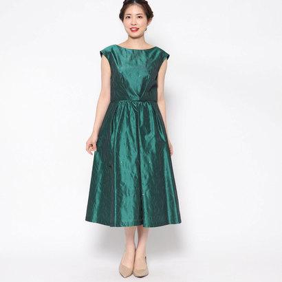 【アウトレット】ジュネビビアン Genet Vivien 刺繍ワンピースドレス (グリーン)