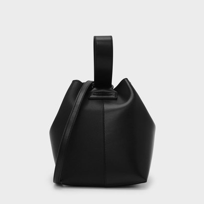 ループハンドルバケツバッグ / LOOP HANDLE BUCKET BAG (Black)
