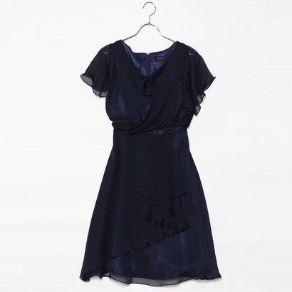 【アウトレット】ジュネビビアン Genet Vivien カシュクールドレープドレス (ネイビー)