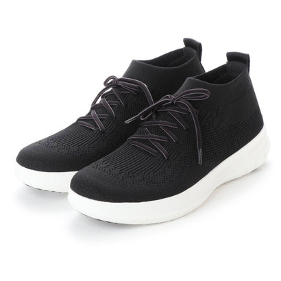 フィットフロップ fitflop UBERKNIT SLIP-ON HIGH TOP SNEAKER (Black)