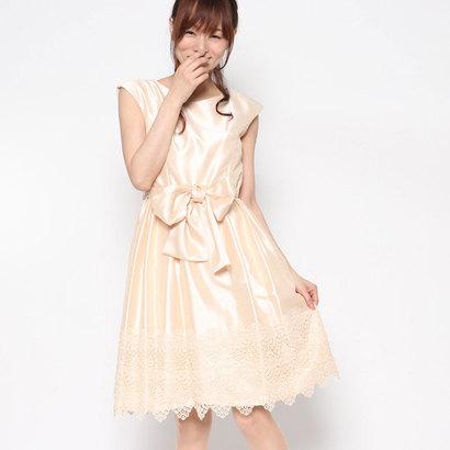 【アウトレット】ジュネビビアン Genet Vivien 裾レースドレス (ベージュ)