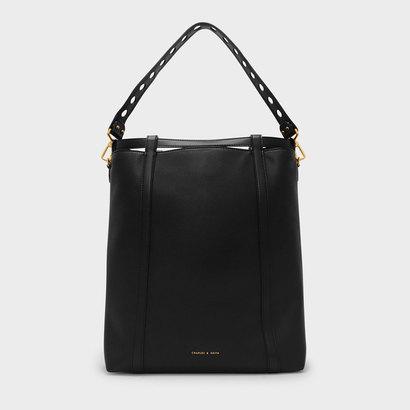 ドローストリングショルダーバッグ / DRAWSTRING SHOULDER BAG (Black)