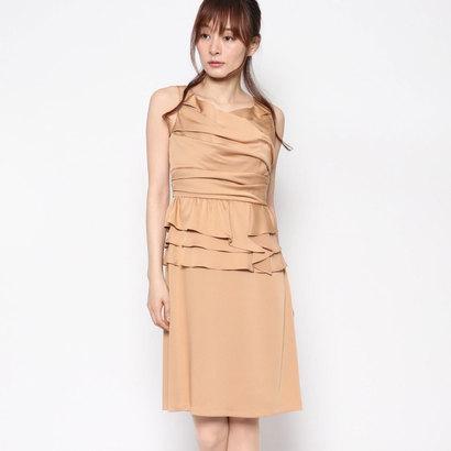 【アウトレット】ジュネビビアン Genet Vivien ペプラムタイトドレス (ベージュ)