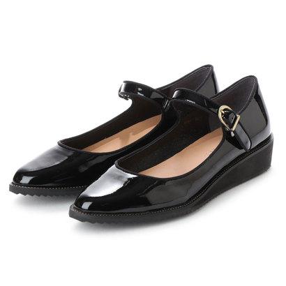 【アウトレット】アンタイトル シューズ UNTITLED shoes ストラップパンプス (ブラックエナメル)