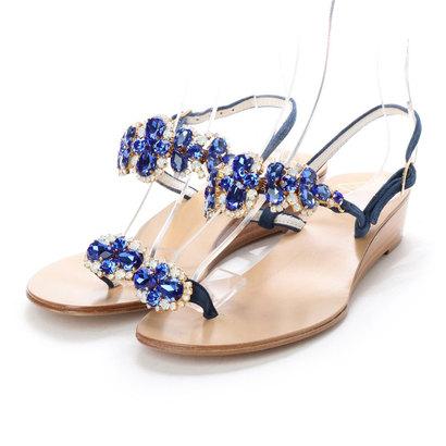 【アウトレット】ナンバートゥエンティワン NUMBER TWENTY-ONE 婦人靴 (DENIM)