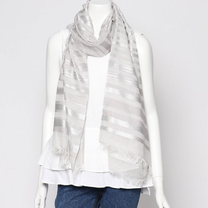 エコー ニューヨーク echo NEW YORK EN0009EVENING STRIPE WRAP (SILVER)