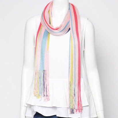 エコー ニューヨーク echo NEW YORK EN0290Cabana Stripe Warp Knit Oblong (First Blush)
