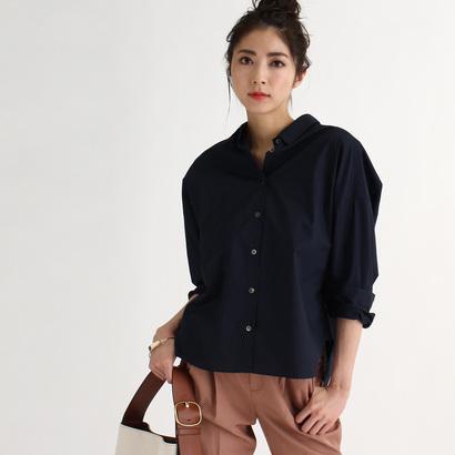 アクアガール aquagirl 【洗える】コットンコンパクトシャツ (ネイビー)