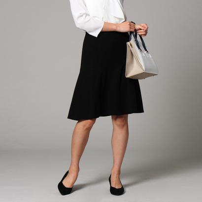 アンタイトル UNTITLED [L]【洗える】トリアセドライクロススカート (ブラック)