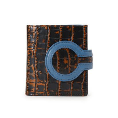 ヒロコ ハヤシ HIROKO HAYASHI ARTE(アルテ) 薄型二つ折り財布 (ダークオレンジ)