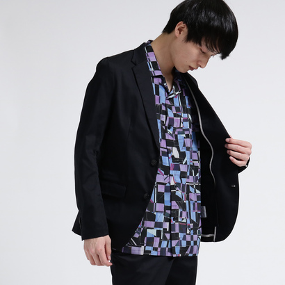 ティーケー タケオ キクチ tk.TAKEO KIKUCHI サテンテーラードジャケット (ブラック)
