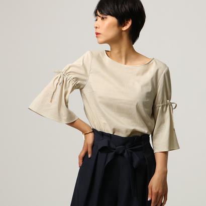 アンタイトル UNTITLED 【洗える】ドロストポプリンシャツ (ベージュ)