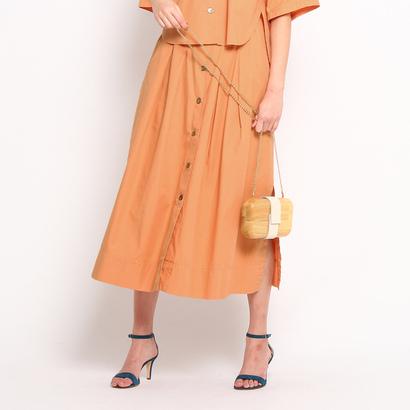 ドレステリア DRESSTERIOR 【洗える】フロントボタン コットンスカート (ライトオレンジ)