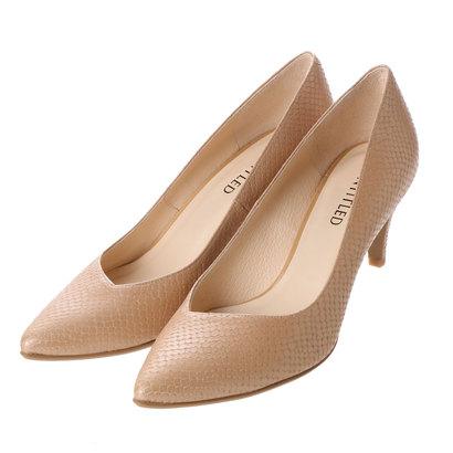 【アウトレット】アンタイトル シューズ UNTITLED shoes プレーンパンプス UT6215 (ベージュ)