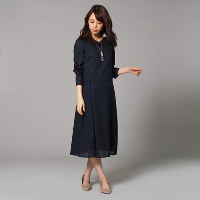 アンタイトル UNTITLED [L]小花刺繍ワンピース (ネイビー)