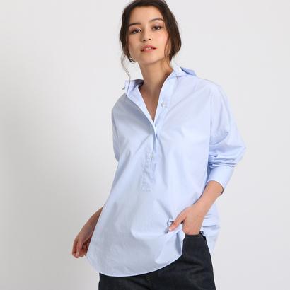 ドレステリア DRESSTERIOR 【洗える】シャツカラープルオーバー (ブルー)