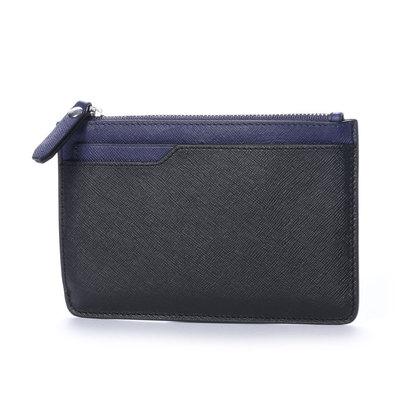エコー ECCO Iola Small Travel Wallet (BLACK/DEEP COBALT)
