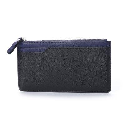 エコー ECCO Iola Long Travel Wallet (BLACK/DEEP COBALT)
