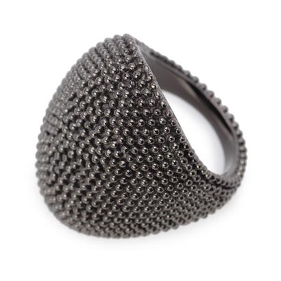 ヒロコ ハヤシ HIROKO HAYASHI RICAMO(リカーモ)指輪 (ブラック)