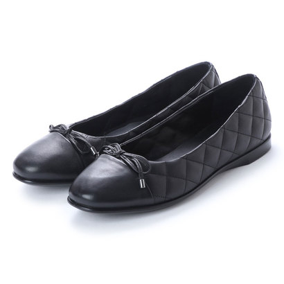 エコー ECCO Qulited Inscise Flat (BLACK)