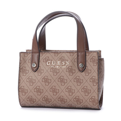 ゲス GUESS FLORENCE LOGO MINI SATCHEL (BROWN)