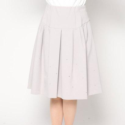 【アウトレット】クリスセリーン CHRISCELIN ビジュー付スカート (グレー)