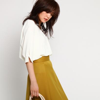 インディヴィ INDIVI [L]キーネックシャツ (ホワイト)