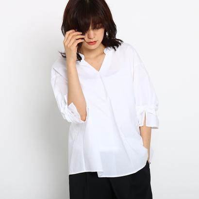 インディヴィ INDIVI [S]ソフトブロードシャツ (ホワイト)