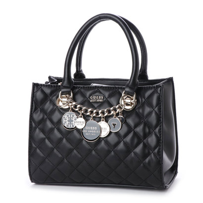ゲス GUESS VICTORIA SMALL GIRLFRIEND SATCHEL (BLACK)