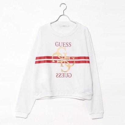ゲス GUESS 4G LOGO SWEAT (TRUE WHITE)