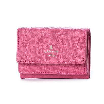 ランバン オン ブルー LANVIN en Bleu リュクサンブール 3つ折りミニ財布 (ローズ)