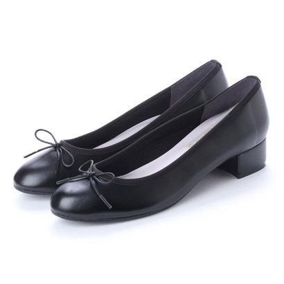 ラウナレアバレエ Launa lea ballet RainyDay ラウンドトゥヒールバレエシューズ (ブラック)