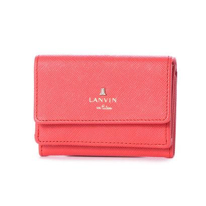 ランバン オン ブルー LANVIN en Bleu リュクサンブール 3つ折りミニ財布 (レッド)