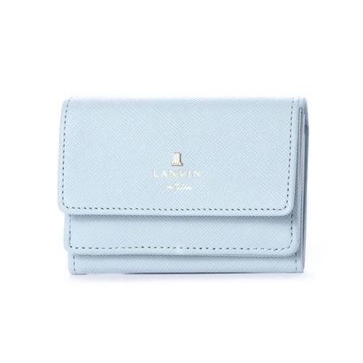 ランバン オン ブルー LANVIN en Bleu リュクサンブール 3つ折りミニ財布 (スノーブルー)