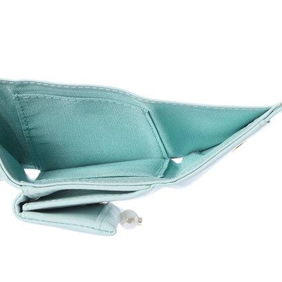 6a02357eb200 ランバン オン ブルー LANVIN en Bleu シャペル 3つ折りミニ財布 。ランバンのモチーフであるパールがポイントの シリーズ。ソフトなタッチと丸みのあるシルエットが ...