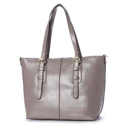 16def7b5b1fc イグジスタンス EXISTENCE BASICフューチャートートバッグ 。女性らしさあふれる持ち手のベルトデザインがアクセントのトートバッグ。コンパクトな見た目なのにA4  ...