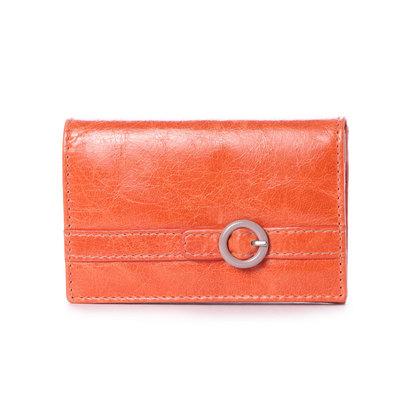ブロンティベイパリス BRONTIBAYPARIS レザー カードケース、名刺入れ (オレンジ)