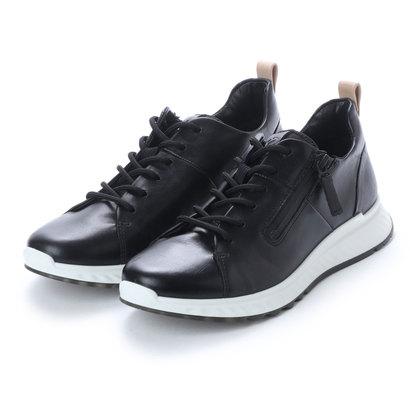 エコー ECCO Womens ST1 Sneaker (BLACK)