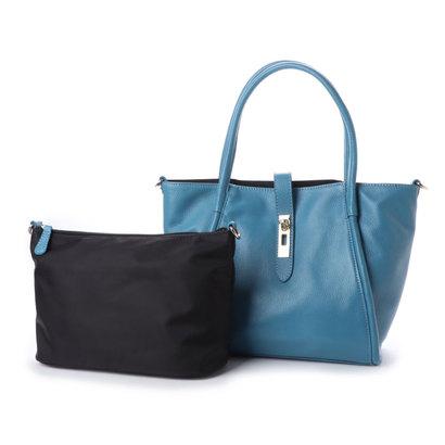 【アウトレット】イグジスタンス EXISTENCE シュリンクレザーマルチハンドバッグ (ブルー)