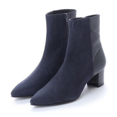 【アウトレット】アンタイトル シューズ UNTITLED shoes ショートブーツ (ネイビースエードコンビ)