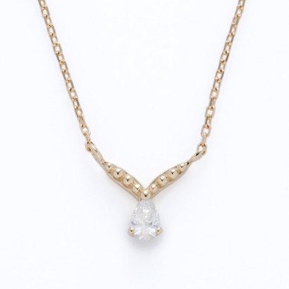 ソーイ sowi 【K10・ダイヤモンド】ハミングバード ペアシェイプダイヤモンド ネックレス (ゴールド)