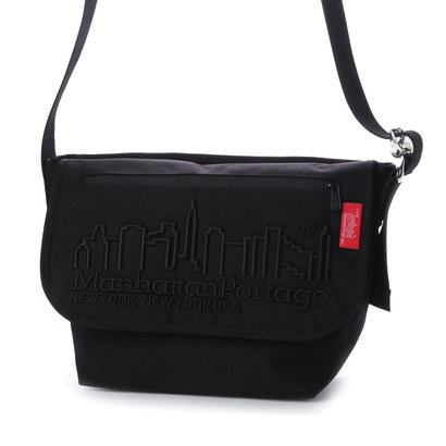 マンハッタンポーテージ Manhattan Portage MP Embroidery Vintage Messenger Bag (Black)