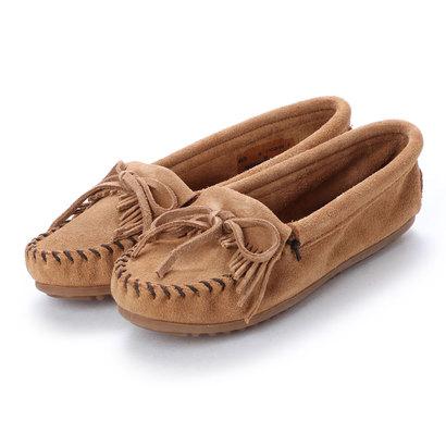 ミネトンカ Minnetonka KILTY Suede Moccasin Shoes (トープ)