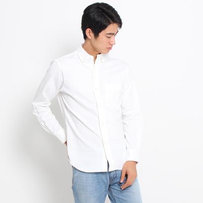 ドレステリア DRESSTERIOR 【洗える】ジャージボタンダウンシャツ (ホワイト)