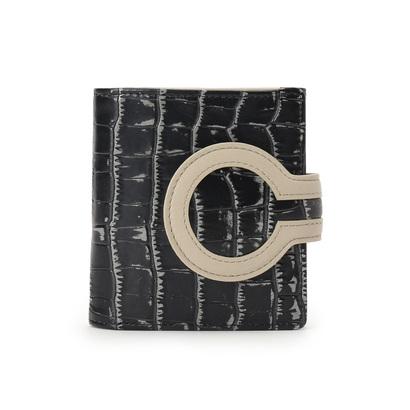 ヒロコ ハヤシ HIROKO HAYASHI ARTE(アルテ) 薄型二つ折り財布 (グレー)