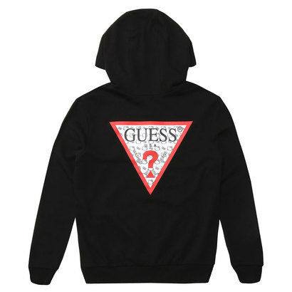 GUESS x Hello Kitty PATTERN TRIANGLE LOGO PULLOVER PARKA (BLACK) (ゲス × ハローキティ パターントライアングルロゴ プルオーバ