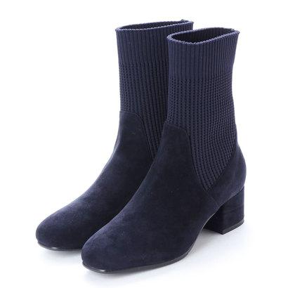 アンタイトル シューズ UNTITLED shoes ショートブーツ (ダークブルースエード)