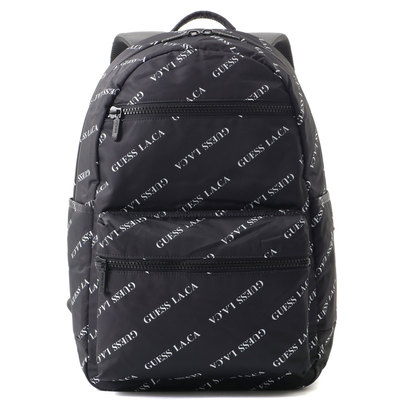 ゲス GUESS LA.CA LOGO CASUAL BACK PACK (BLACK)