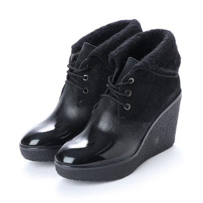 あす楽 交換 返品可能 ジェオックス オープニング 大放出セール GEOX 交換無料 レディースシューズ ブーツ ANKLE ブーティ BOOTS BLACK アウトレット ロコンド